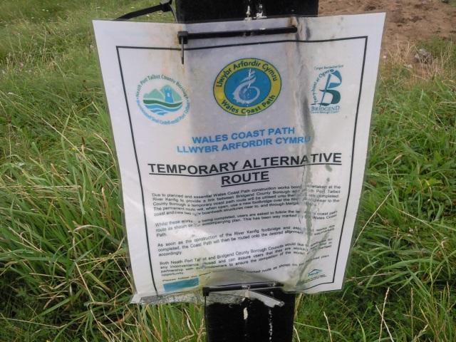 Wales Coast Path diversion notice