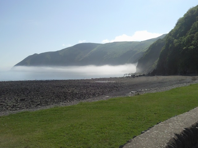 Countisbury Hill and Foreland Point, seen from Lynmouth