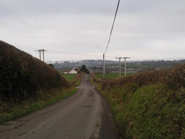 Road towards Carmarthen from Croesyceiliog