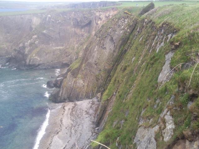 Aber Ysgol cliffs