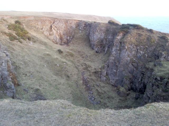 a limestone sinkhole