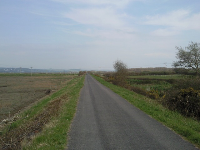 A long, straight section of the Tarka Trail