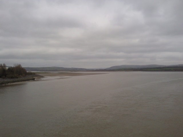 View upstream from Loughor Bridge