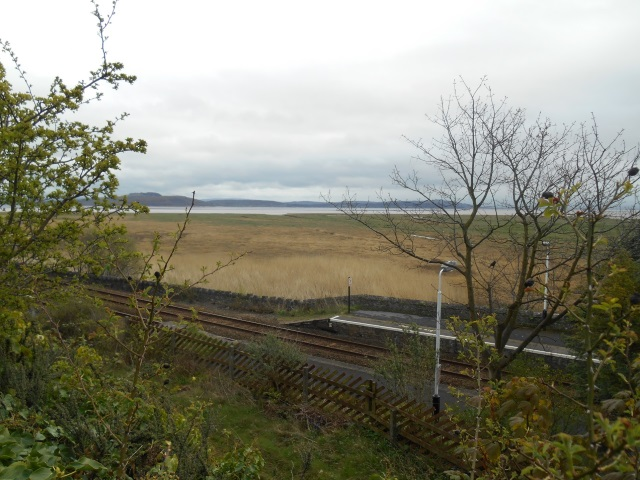 Kents Bank station and the cross-bay right of way