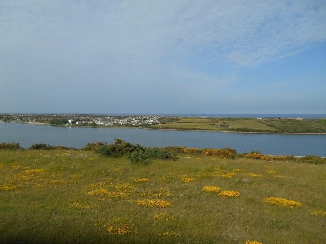View across the Walney Channel to Walney Island Airport