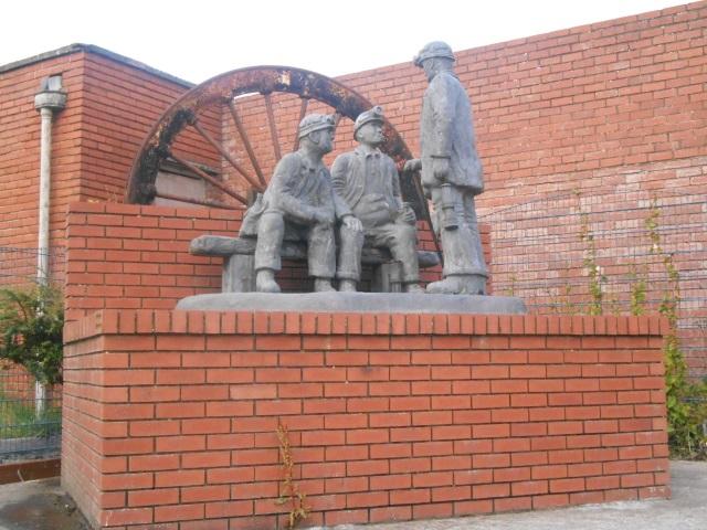 Flimby coal miner statues