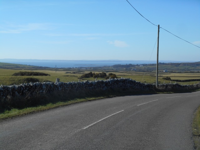 Views of Borness Bay in the distance