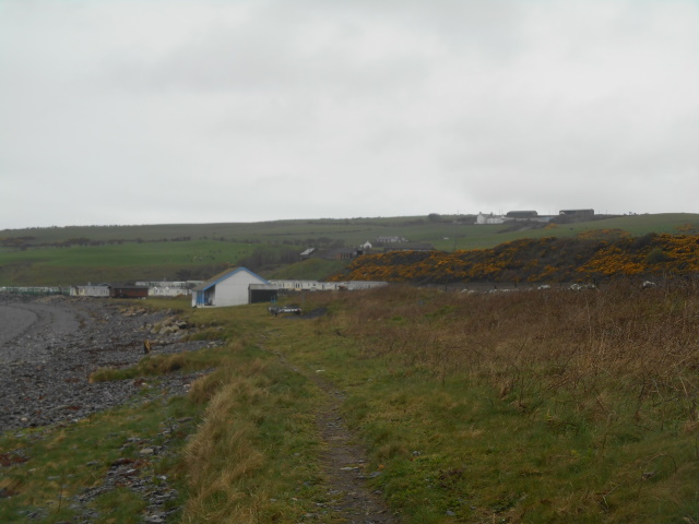 Maryport - a farm and some caravans