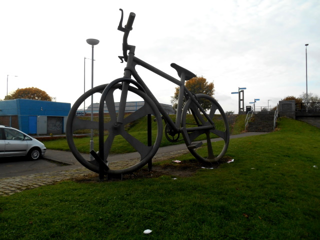Giant bike sculpture