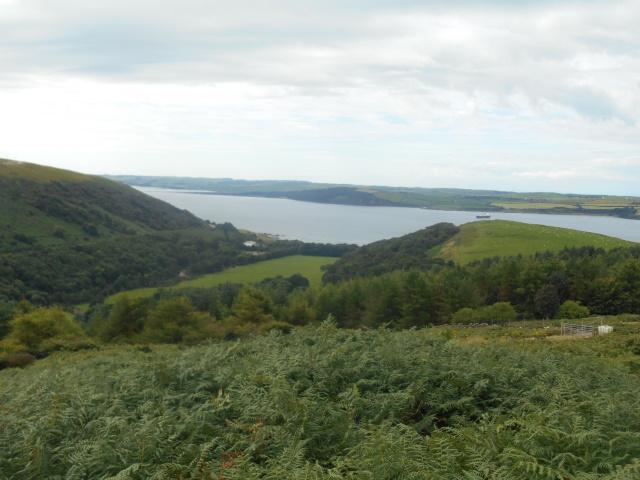 Finnarts Bay and Loch Ryan, as seen from the Ayrshire Coastal Path