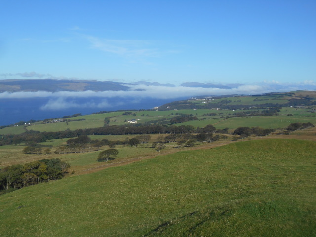 View north from Knock Hill to Skelmorlie