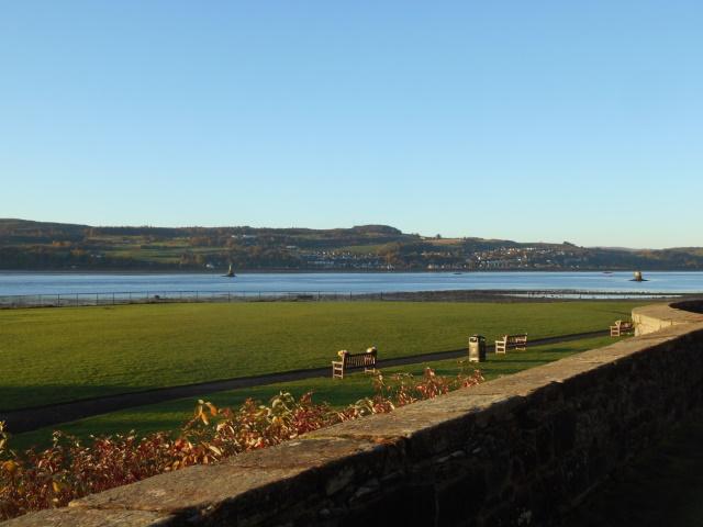 Langbank, as seen from Dumbarton Castle