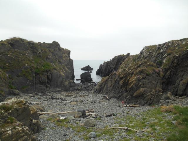 A rocky cove