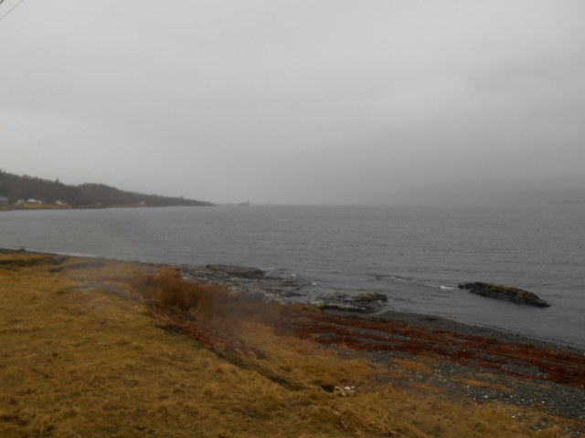 Ardmeanach lost in the drizzle