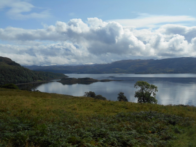 Eilean Coltair as seen from the pass track