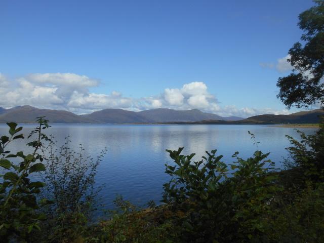 Blue skies over Loch Linnhe