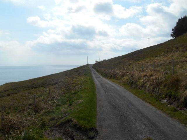 Coast road on hillside