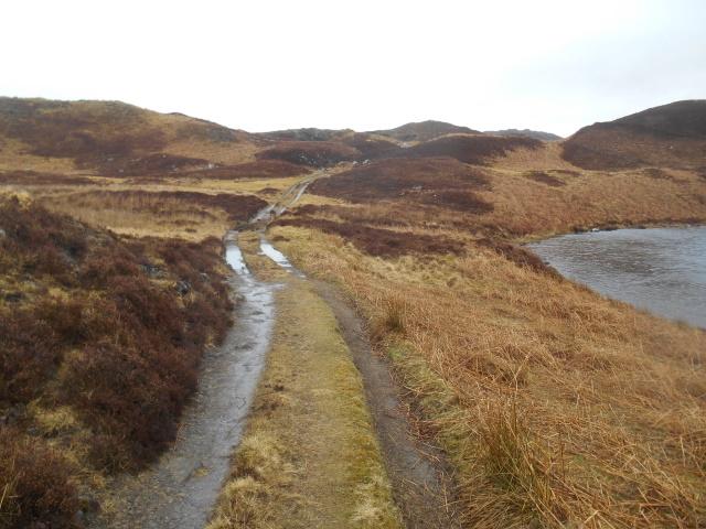 Access Track beside lochan.