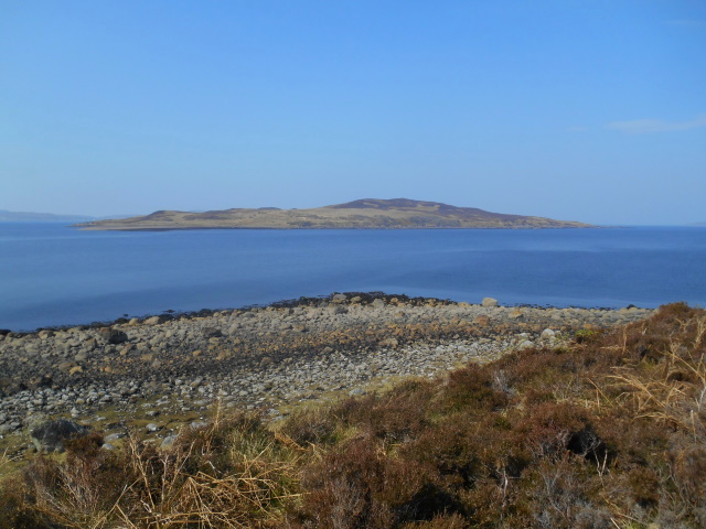 Gruinard Island and stony beach
