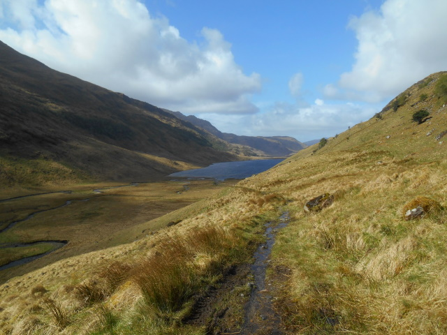 Looking back at the loch