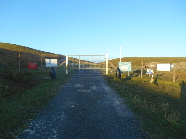 Gate to MOD bombing range control