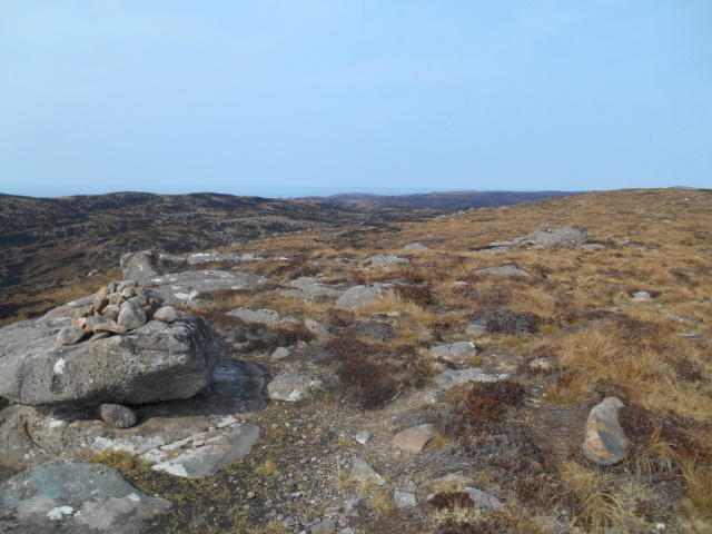 Path to Slaggan marked by cairns