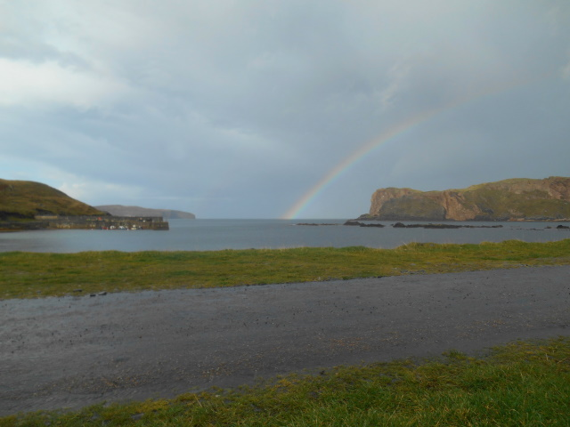 Rainbow over Skerray Harbour