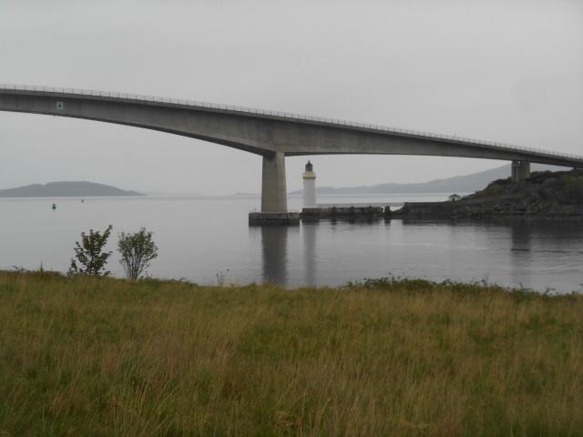 Kyleakin Lighthouse below Skye Bridge