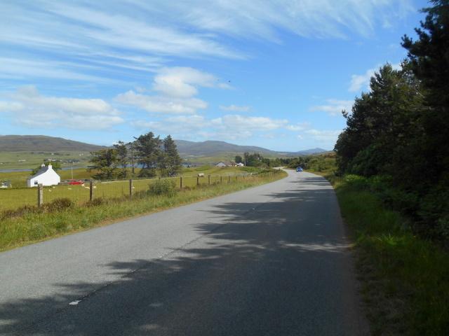 Almost empty road in Treaslane