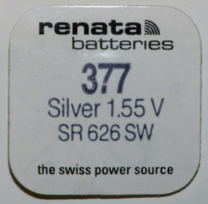renata 377 Packaged Cell SR626SW