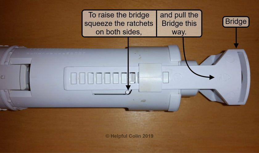 How to raise the Bridge on The Flushing Mechanism