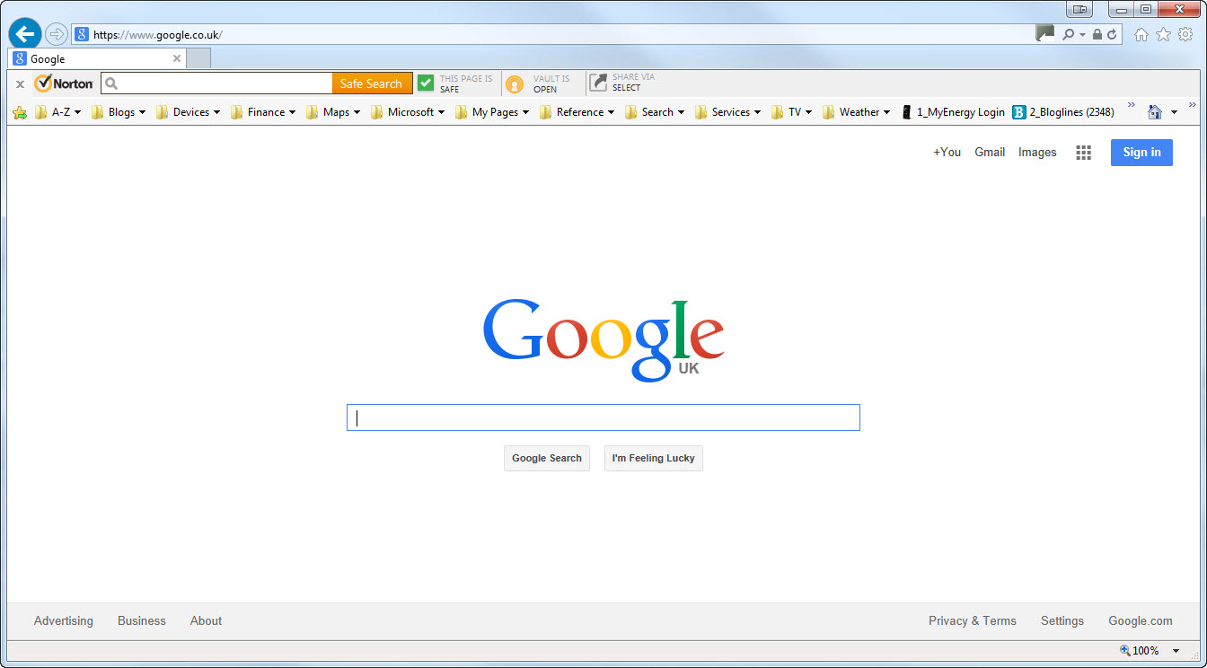 make google the home page
