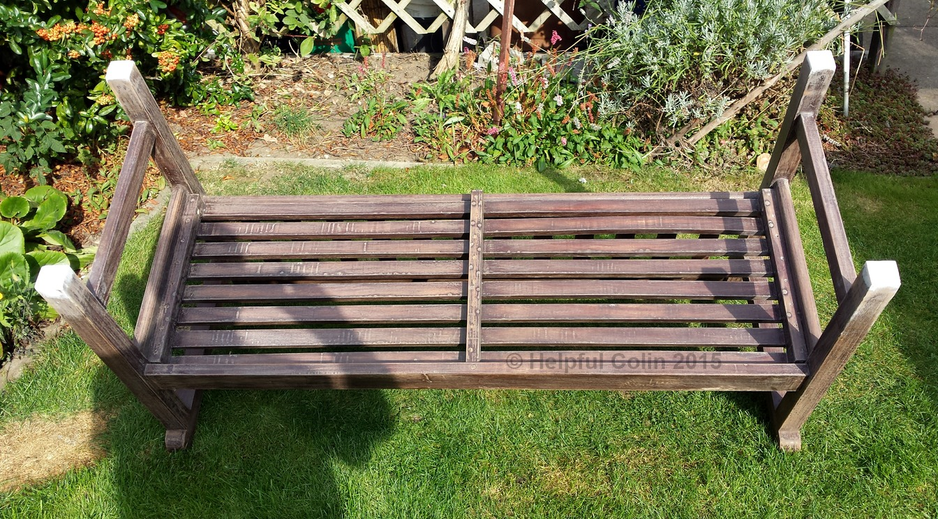 garden seat repaired in before painting