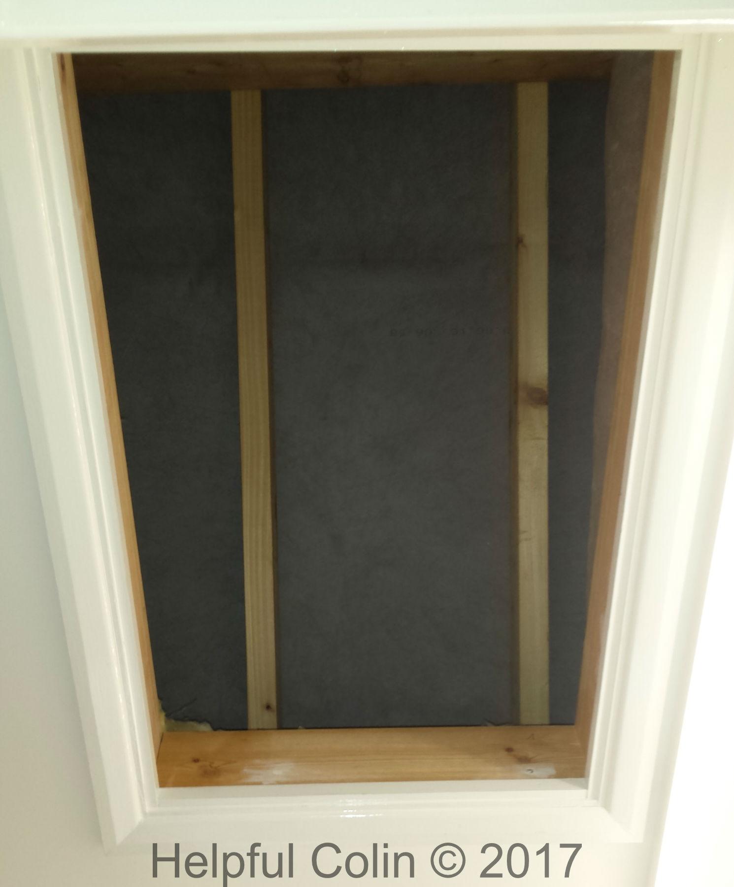 Loft with trapdoor open