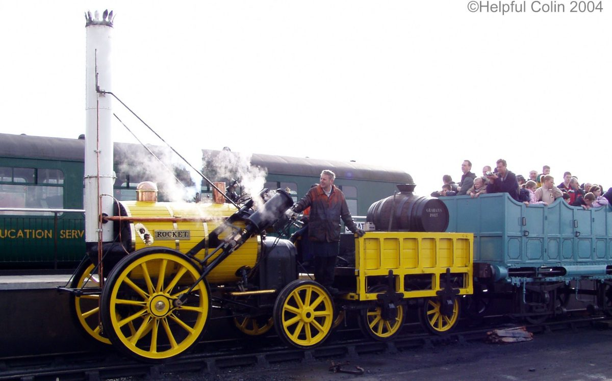 A Replica of Stephenson's Rocket Railway Experiences