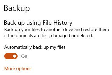 windows 10 file history