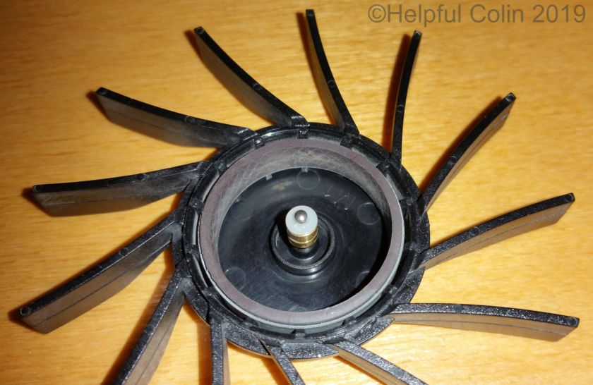 lubricating the heat sink fan