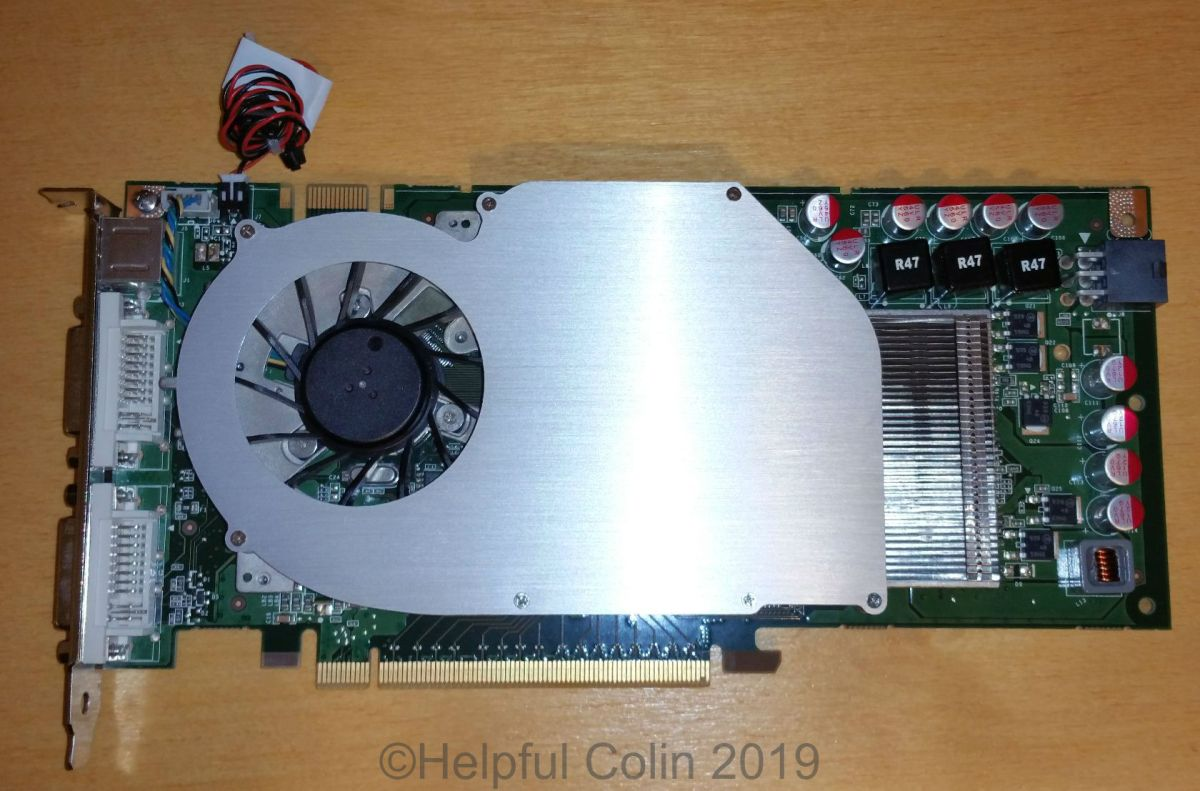 Lubricating The Heat Sink Fan On A GeForce GTS240
