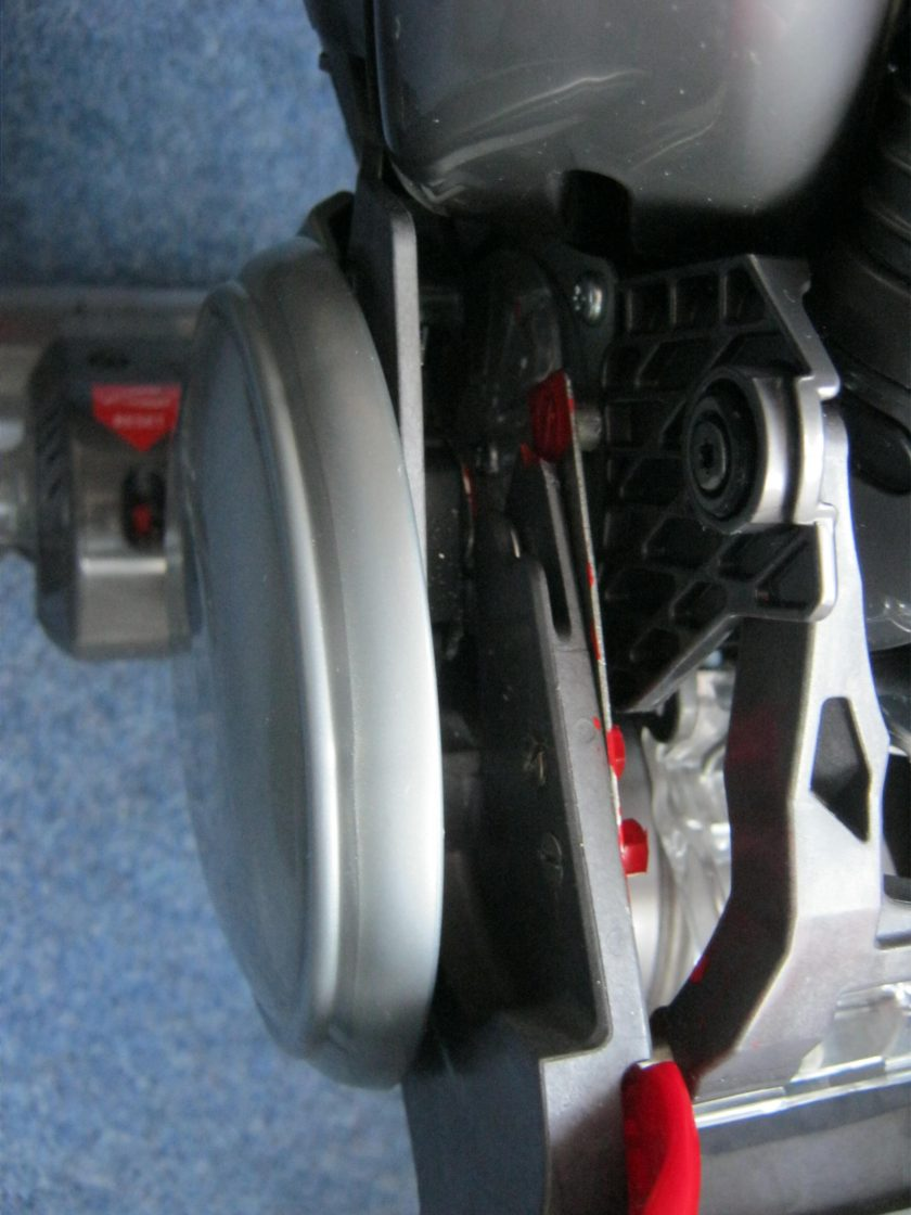 Dyson Slim DC18 undercarriage after user repair