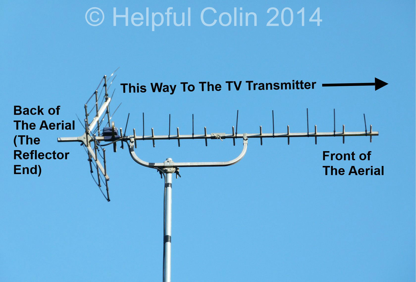 Terrestrial Freeview TV Aerial Direction