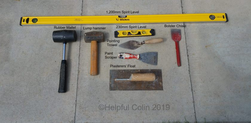 tools used to lay slabs