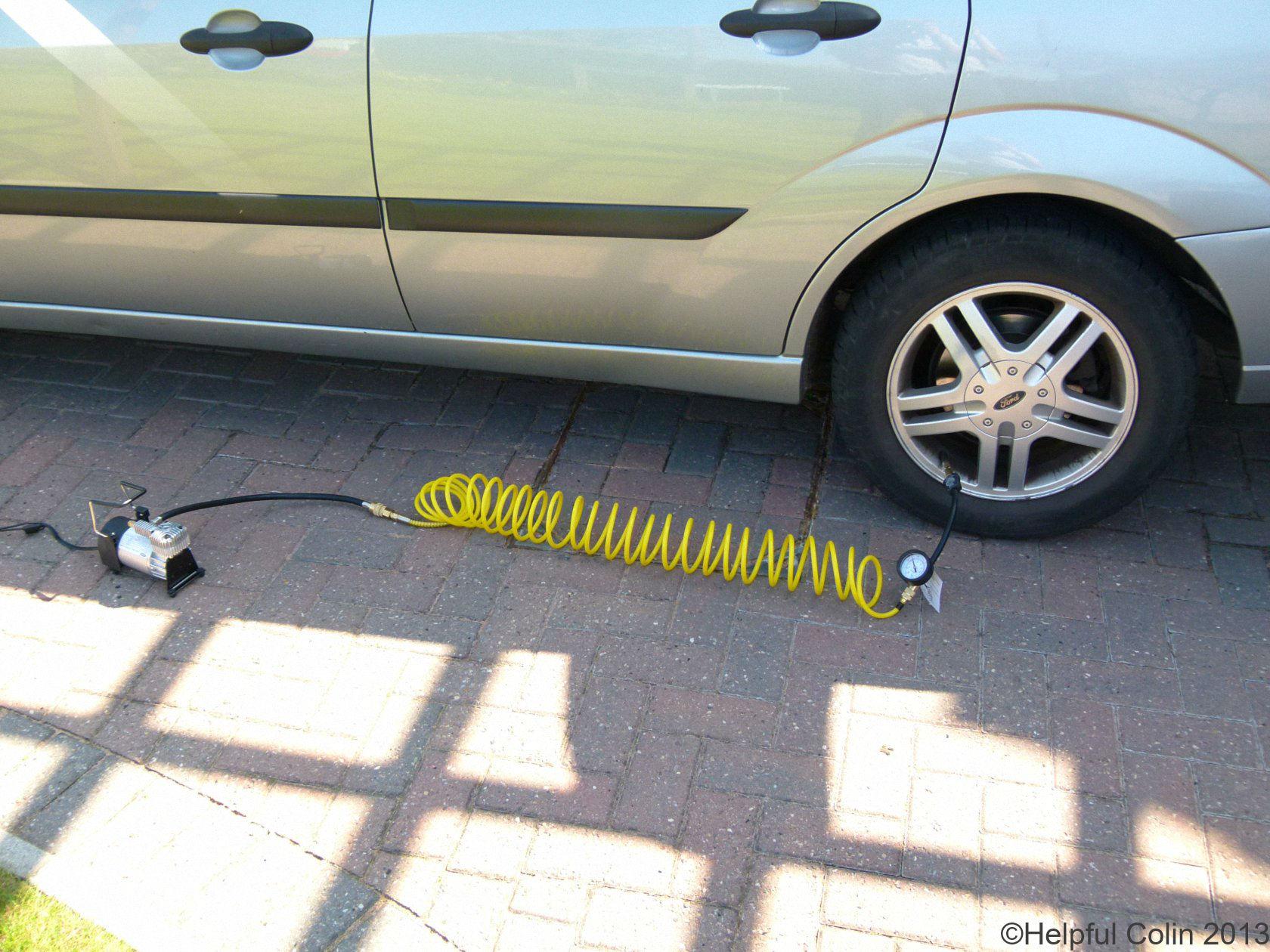 RAC900 Tyre Pump In Action