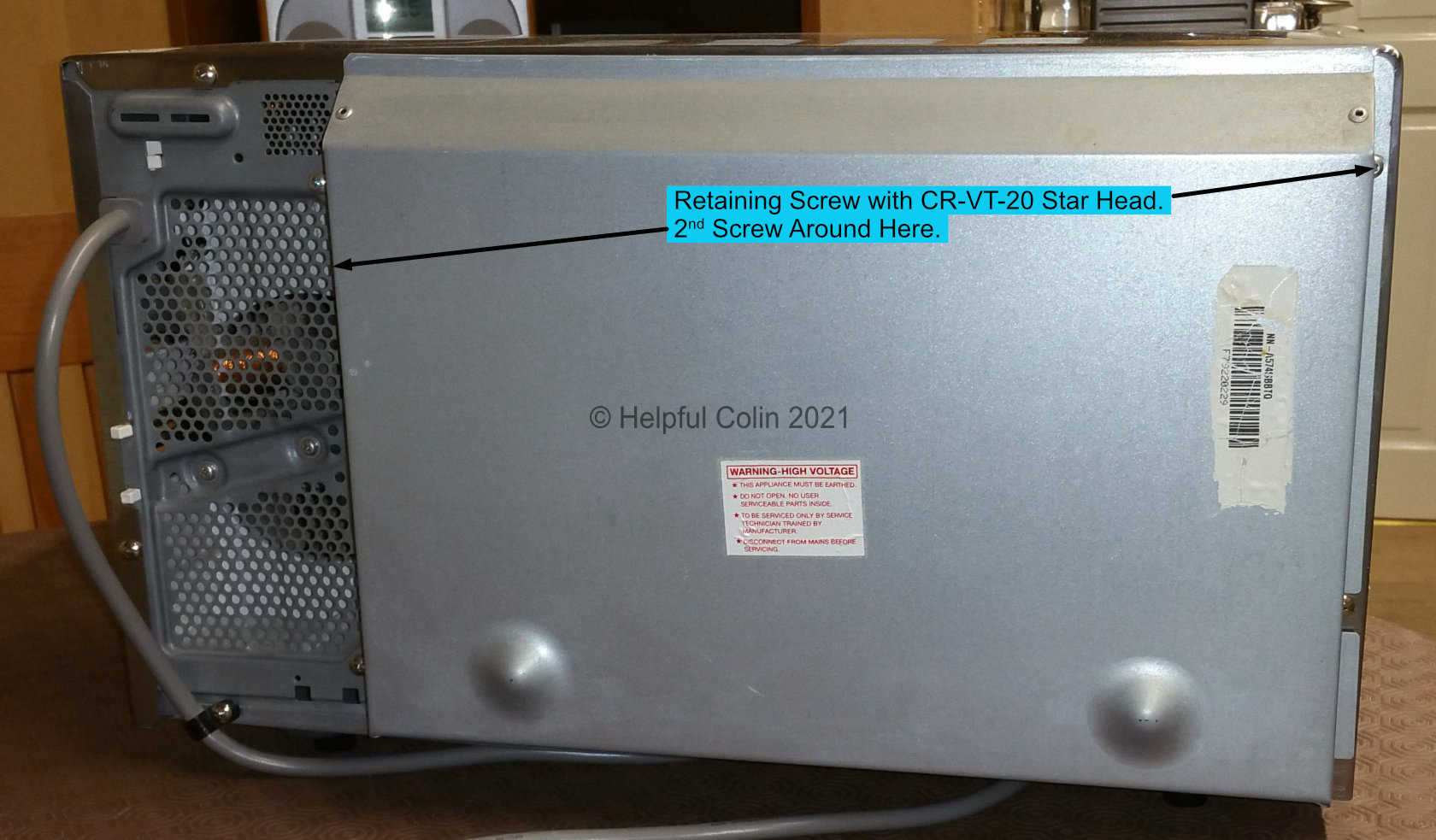 Back of Microwave Inverter With Spacer Panel