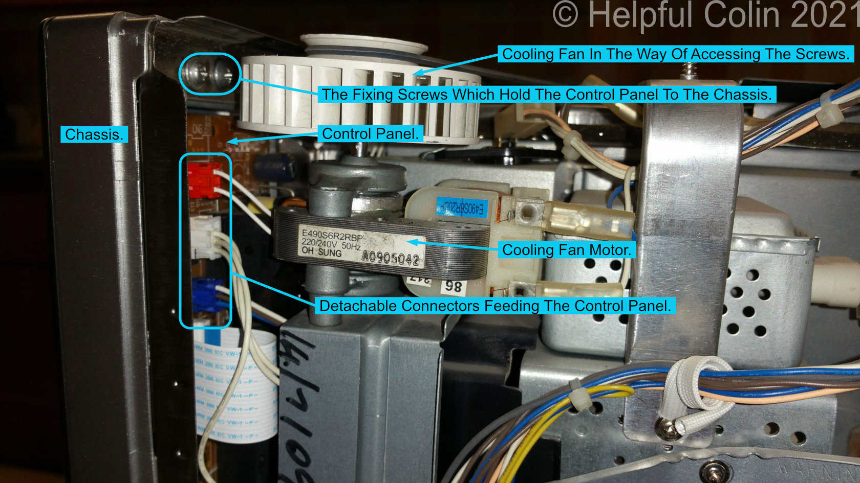 Right Side View Inside Microwave Inverter