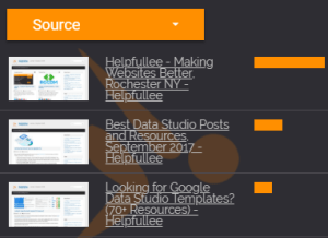 Automatic previews for Google Data Studio