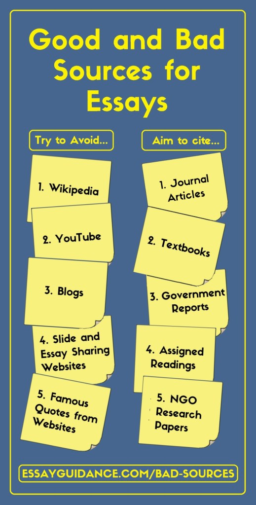 good and bad sources infographic