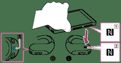 NW-WS623/WS625 | 幫助指南 | 與智能手機一觸連接(NFC)