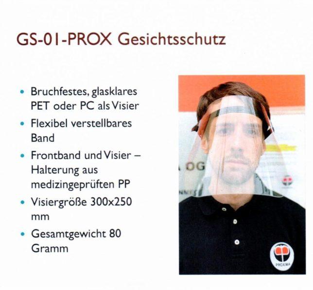 GS-01-Prox Gesichtsschutz