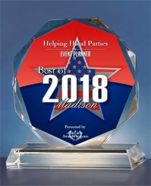 Helping Hand Parties Receives 2018 Best of Madison Award