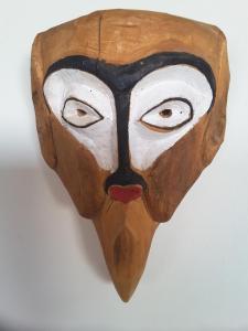 Vintage hand made huge decorative face Mask-III